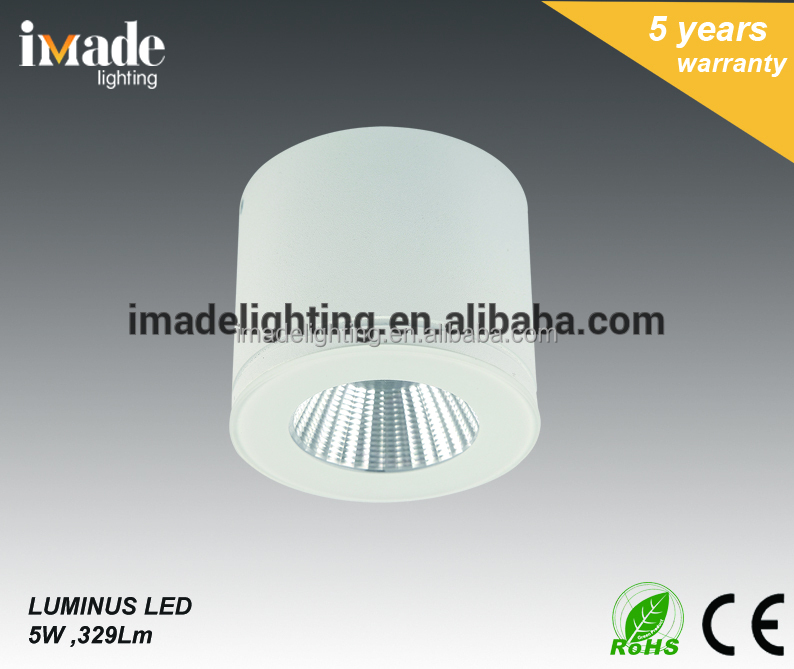 IP44 Die Cast Aluminum circular indoor 5w COB led step light Led foot light Led stair light