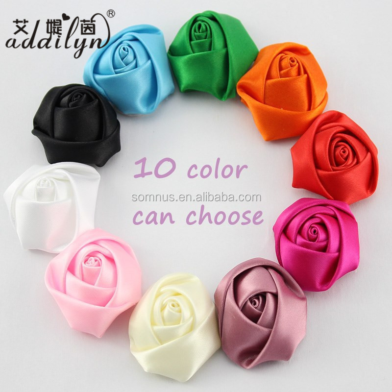 Promotion Headwear Accessories DIY Artificial Stereo Rose Bud Headdress Flower AD0387