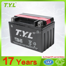 guangzhou TYL brand tongli 12v9ah dry charged motorcycle battery