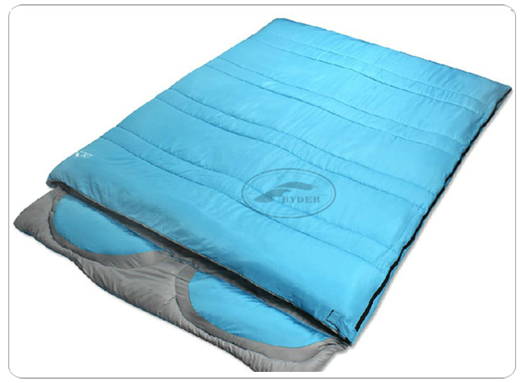 High Quality Sleeping Bag Weather Double Outdoor Hiking Camping Envelope Couple Sleeping Bag