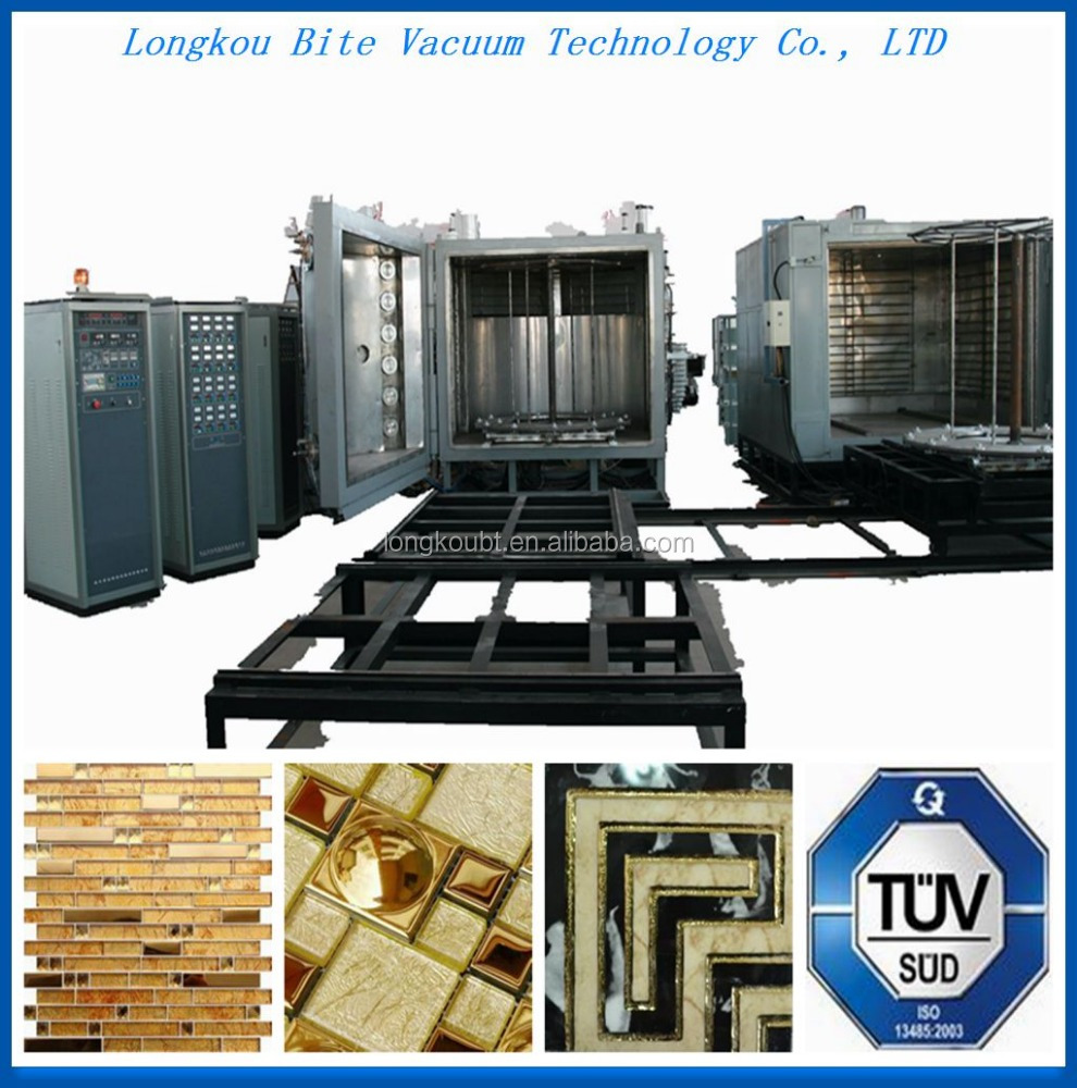 pvd wall tile color multi-arc spray painting plating machine/ ceramic tiles gold color vacuum metalizing equipment