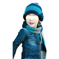 1pc hot sale different color choice set for scarf with cap Christmas comfortable knitted children winter hat
