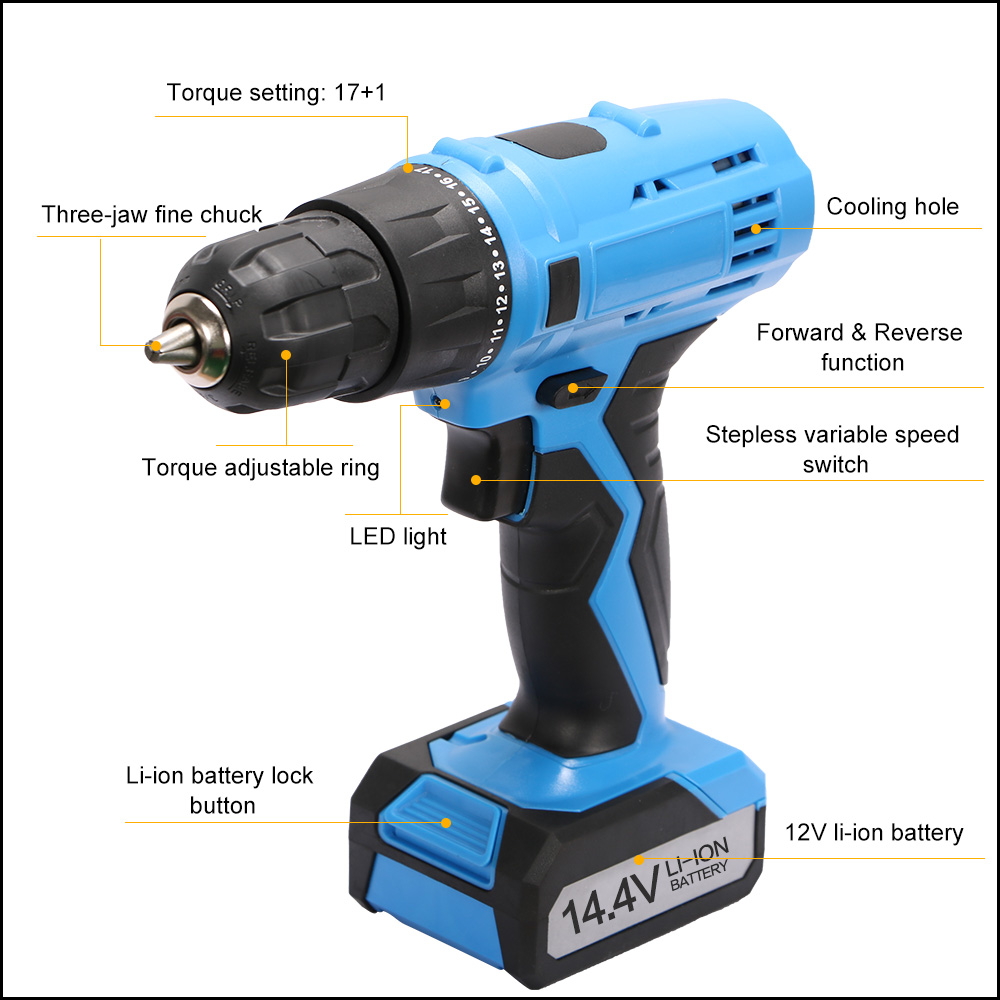 Most popular cordless drill batteries 14.4v, reliable quality battery drill cordless