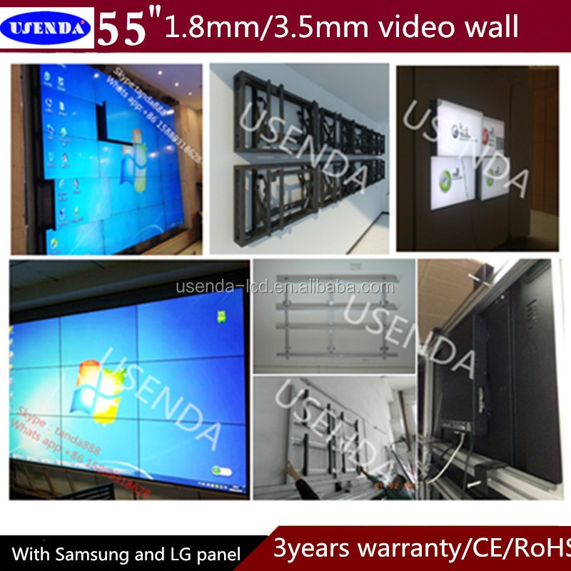 "Hot sale,New products 4K 55"" 800nits 1.8mm super narrow bezel tiled video wall display with Original Samsung LG panel from Korea"