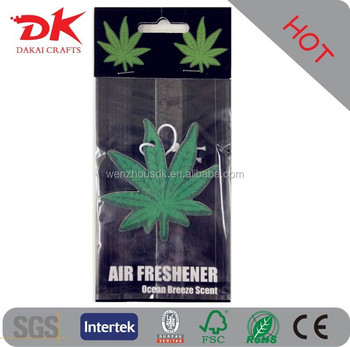 2016hot sale paper scent air feshener/car air freshener/air freshener for car