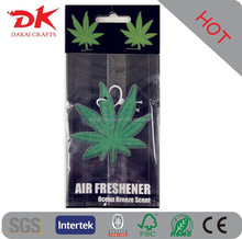 Custom hanging car air freshener /wholesale car air freshner in bulk/tree paper air freshener for car