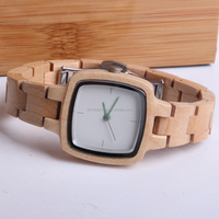 High end vogue wooden watch for women,customized quartz maple watch