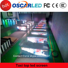 High quality p5 outdoorfull color Bus/Car/Truck Roof one side LED screen Taxi Top Advertising Sign!