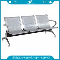 AG-TWC001 Reception 3 seater stainless steel hospital waiting chair