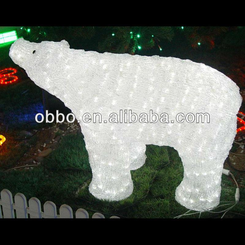 Polar Bear Christmas Outdoor Lighted Decorations Buy Crystal Polar Bear Christmas Polar Bear Light Decorative Polar Bear Product On Alibaba Com