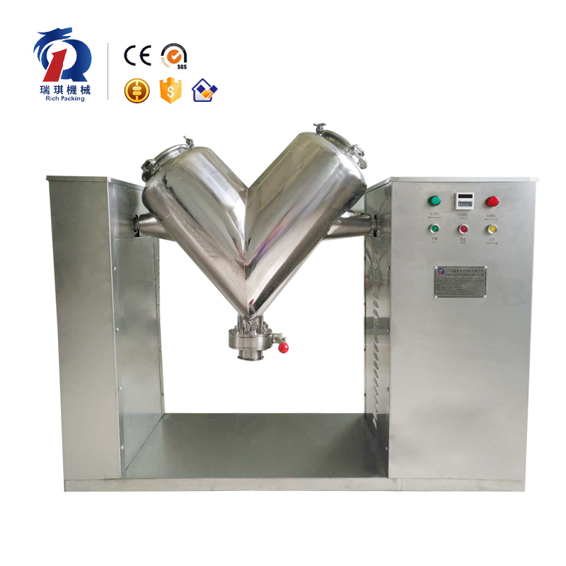 Professional Dry Spice Coffee Sugar Protein Milk Tea Powder Granule V Shape Mixer Blender/Mixing Equipment
