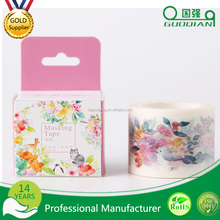 free sample environmental Custom printed paper backing washi Masking tape used for diy and Hand-me-downs