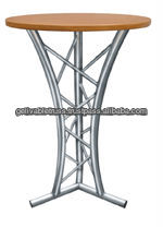 round surface lightweight bar table and bar chair for sale