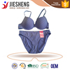 Stripe print bra and brief set new design bra name brand bra factory in China (accept OEM)