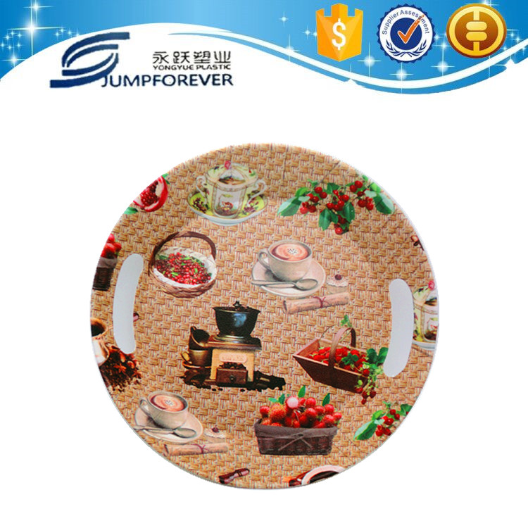 High quality and cheap plastic melanine tray for vegetable