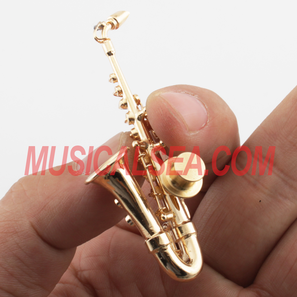 Mini musical instrument brooch pin and copper ornaments for promotion gift