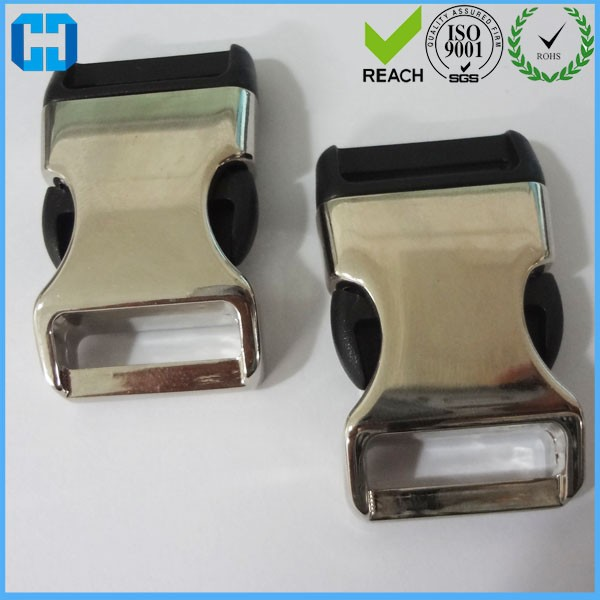 Wholesale Metal/Plastic Hybrid Side Release Buckles For Dog Collar In China