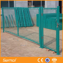 ISO 9001 high quality cheap retractable temporary chain link fence gate