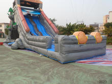 hotsale cheap inflatable water slides/high hippo slide inflatable amusement park rides/water park water slide for sale