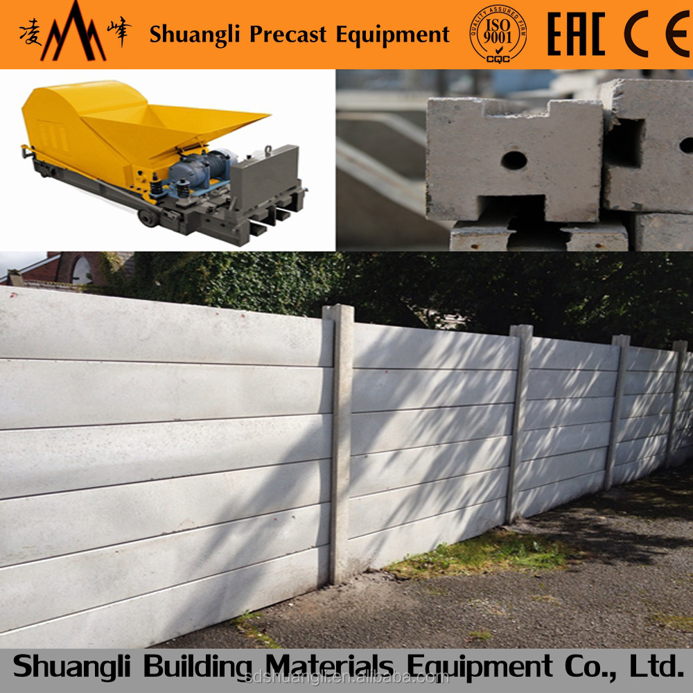 rcc fencing pole production equipment/precast boundary wall machine