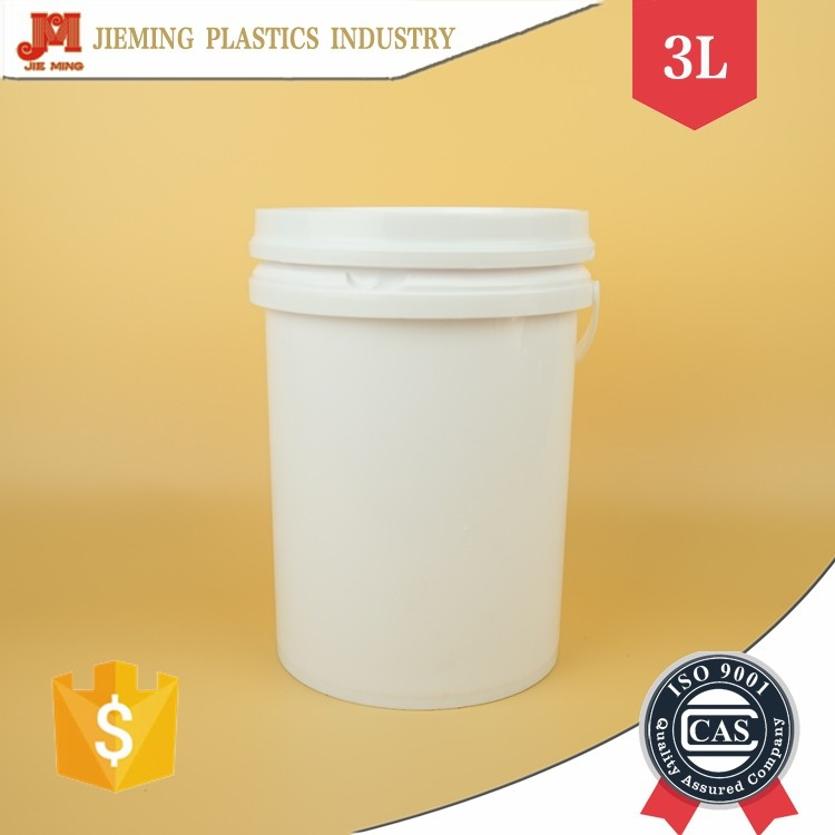 Small Cylindrical Plastic Barrels, 3L Plastic Wood Coating Buckets with Secure Seal Lid