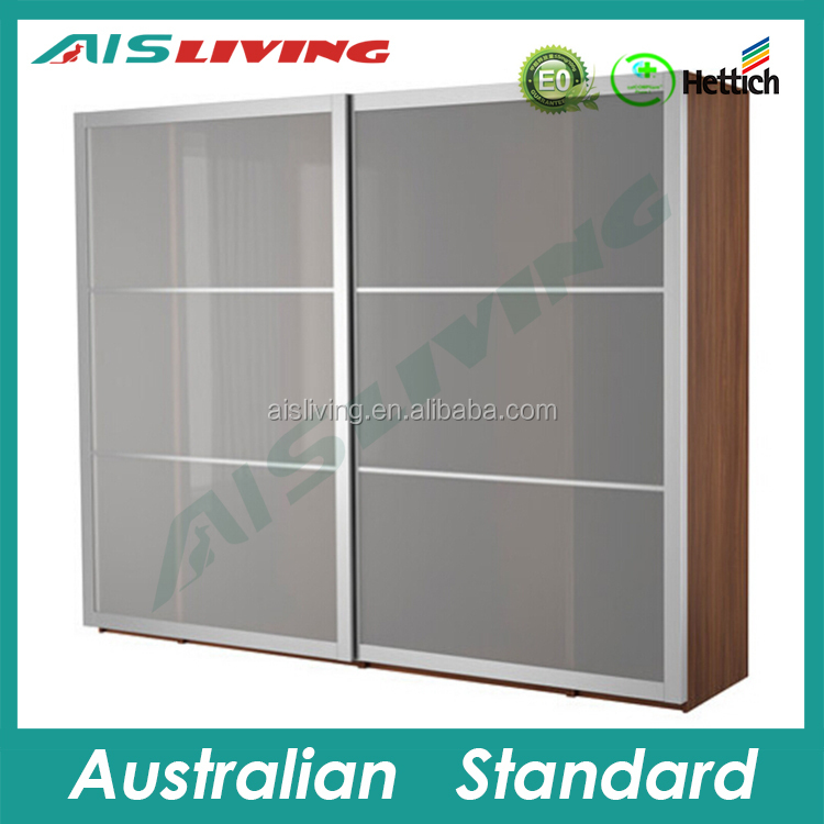 AIS-W108 Frost glass sliding door wardrobe for project use