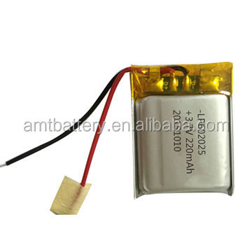 3.7V 602025PL Li-polymer battery for bluetooth