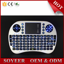 2.4G Mini Rii i8 Wireless Keyboard Remote Controls Air Mouse With Touchpad Keyboards 92 Keys for Andriod TV