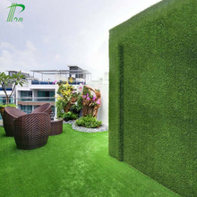 Natural Green Artificial Grass Fence Wall For Decoration