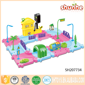 Popular B/O rail slot toy car for children