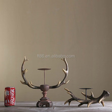 The Wholesale Traditional deer antler antique candle holders