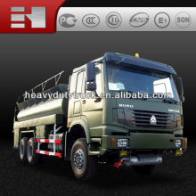 Cheaper than used truck!!SINOTRUK 6X6 military all road Fuel tank truck for sale