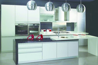 white foil wrap kitchen cabinet