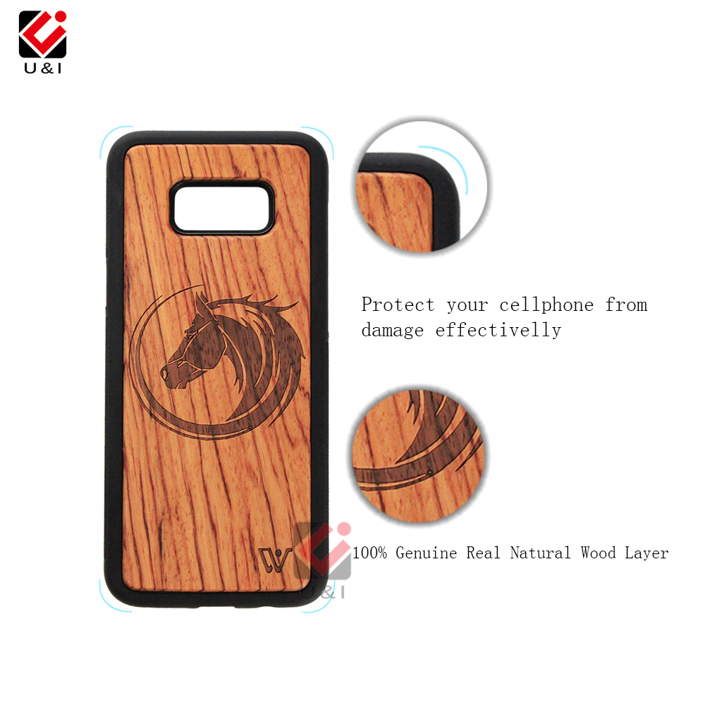 Unique style Real Cherry wooden cell phone case for Note 8, ultra slim case for samsung galaxy s8