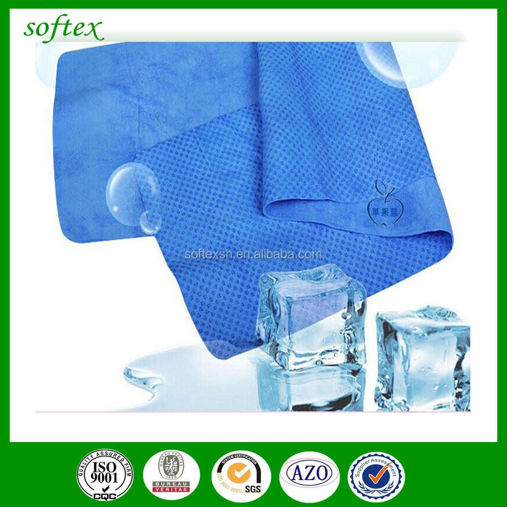 Factory Wholesale Super absorbent PVA sports cooling towel / PVA cleaning chamois