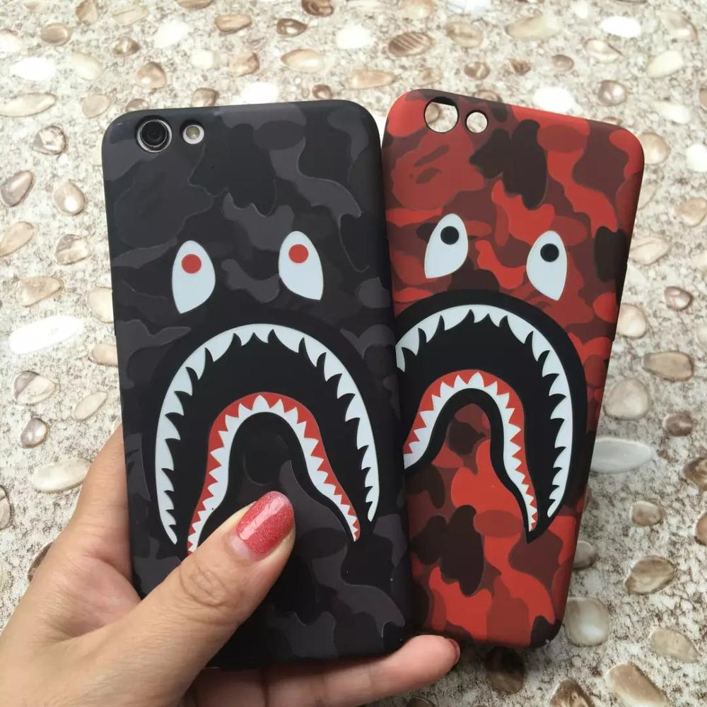 Hot Case For iPhone 7 6 6s Plus Shark Army Phone Case Cover 5 5S SE Matte