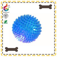Sparkling pet ball with sound plastic ball plastic toy ball with bell inside
