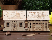 3D Wood House Puzzles for adults