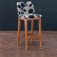 China Wholesale High Quality Stable Tall Designer Ash Wood Bar Stool