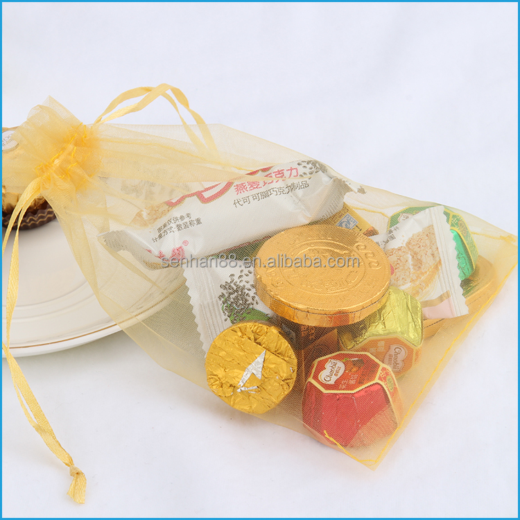 Alibaba china wholesale colorful organza wedding candy gift bag in packaging bag