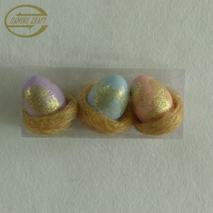 high-quality decorative glitter foam easter egg
