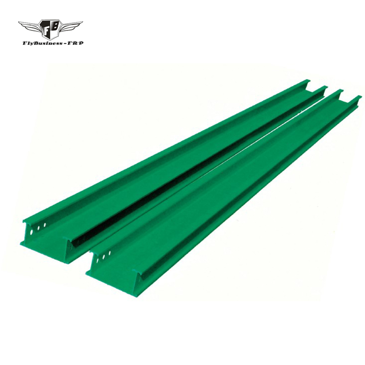 New style fiberglass flexible plastic trough type frp cable tray for power cables