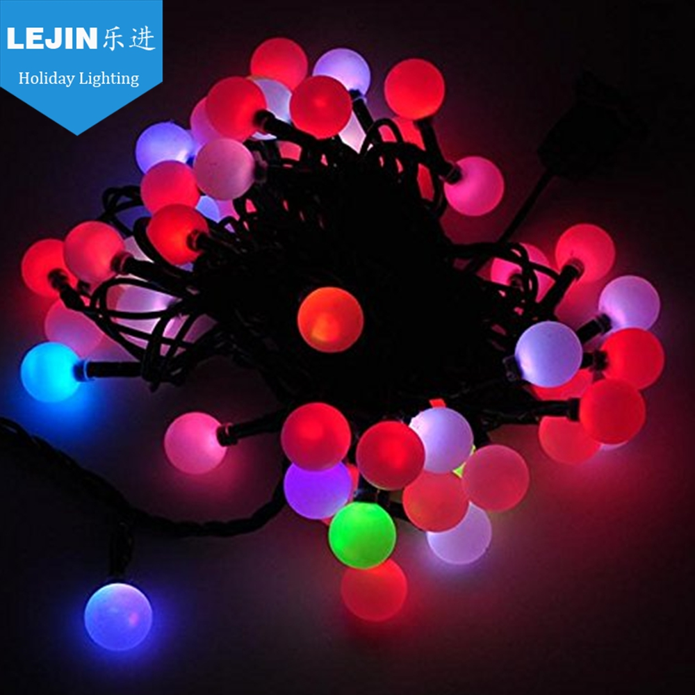 3~24v pvc battery operated red christmas bulb string light