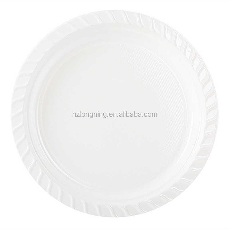 "hot sales 8"" disposable white plastic plate with lid"
