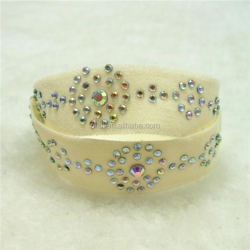 Rhinestone Decorative Crystal Bling Bling Knotted Hair Tie Elastic