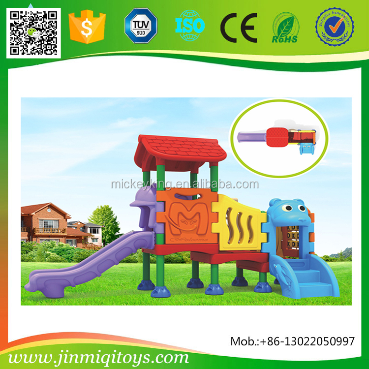 China kids plastic outdoor playground equipment for garden or backyard
