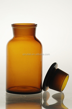 reagent bottle of amber glass wide mouth with stopper 250ml