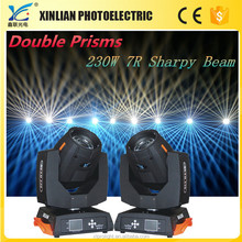 Double prisms 230w sharpy 7r beam moving head dj stage sj pro lighting beam