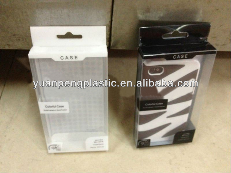 plastic packaging box for cell phone case,transparent plastic packaging box for cell phone case with inner tray