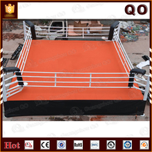 Hot sale logo printed championship small boxing ring with strong ropes and corner